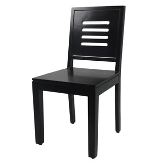 Mahogany Finish Solid Wood Chairs (Set of 2)