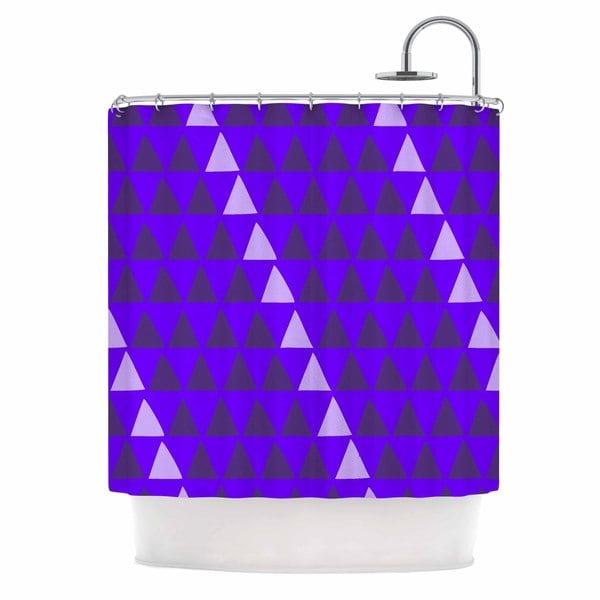 KESS InHouse Matt Eklund 'Overload - Purple' Shower Curtain (69x70)