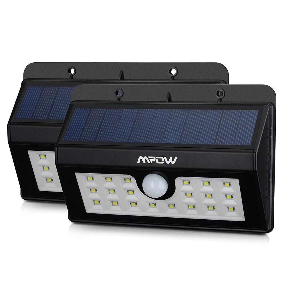 Mpow Solar Power Wireless Security Motion Sensor Light with 20 LED Bulbs (Set of 2) (Mpow 20 led solar light)