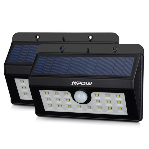 Mpow Solar Power Wireless Security Motion Sensor Light with 20 LED Bulbs (Set of 2)