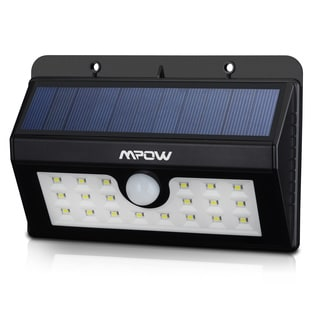 mpow super bright solar powered wireless weatherproof outdoor motion sensor light 20 led light source bright outdoor lighting