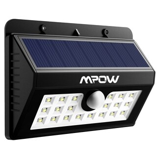 Mpow Super Bright Solar-powered Weatherproof Outdoor 20 LED Bulbs Motion Sensor Light with 3 Intelligent Modes (2 options available)