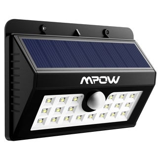 Mpow Super Bright Solar Powered Weatherproof Outdoor 20 LED Bulbs Motion  Sensor Light With 3