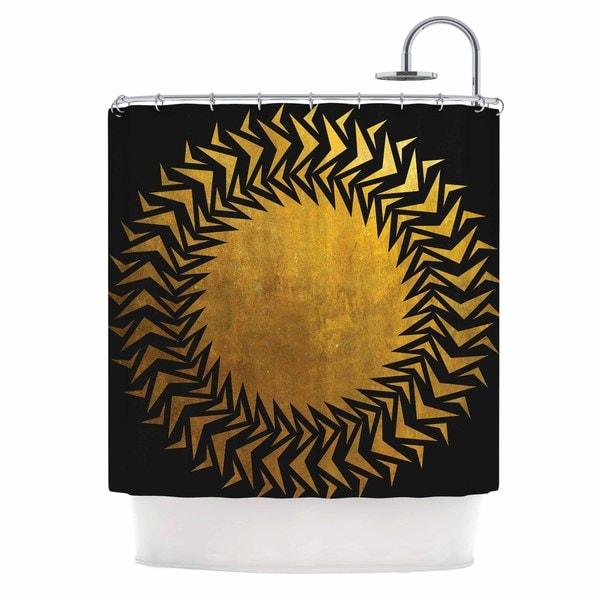 KESS InHouse Matt Eklund 'Gilded Chaos' Shower Curtain (69x70)