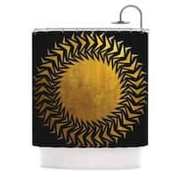 KESS InHouse Matt Eklund 'Gilded Chaos' Shower Curtain (69x70)