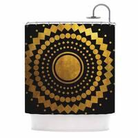 KESS InHouse Matt Eklund 'Gilded Confetti' Shower Curtain (69x70)