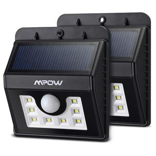 Mpow Solar-powered Motion Security Sensor Lamp with 8 LED Bulbs (Set of 2)