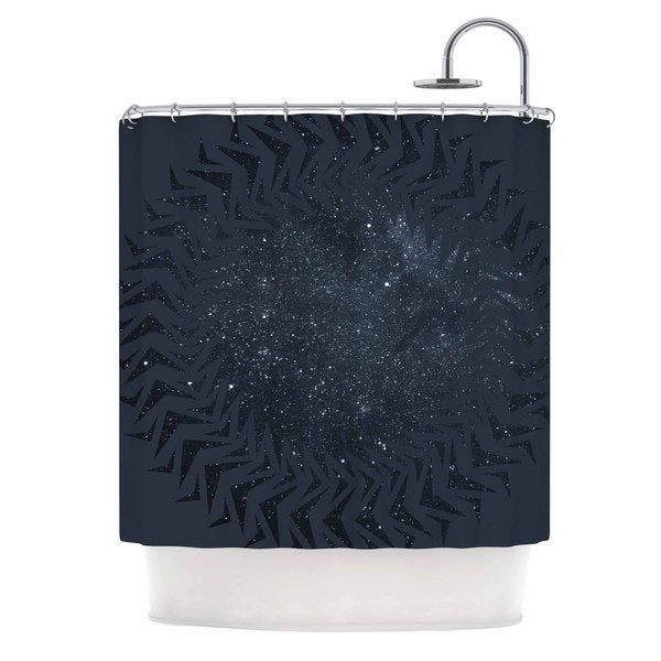 KESS InHouse Matt Eklund 'Lunar Chaos' Shower Curtain (69x70)