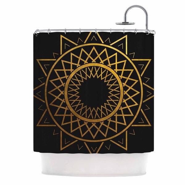 KESS InHouse Matt Eklund 'Gilded Sundial' Shower Curtain (69x70)
