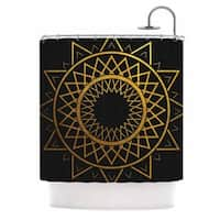 KESS InHouse Matt Eklund 'Gilded Sundial' Shower Curtain (69x70)