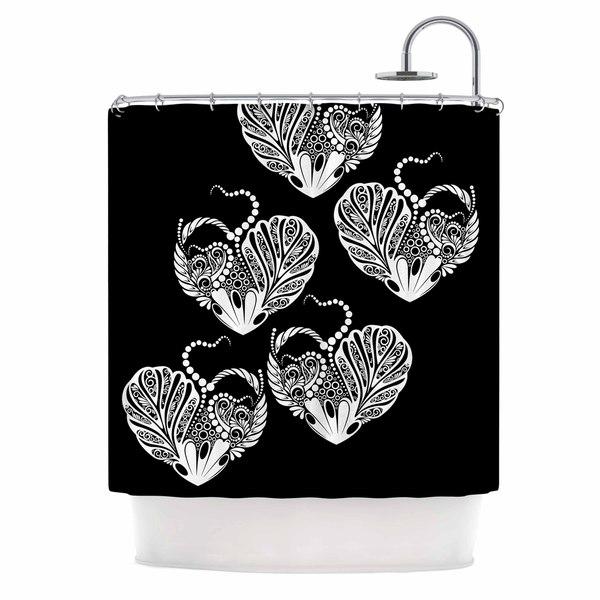 KESS InHouse Maria Bazarova 'Heart' Shower Curtain (69x70)