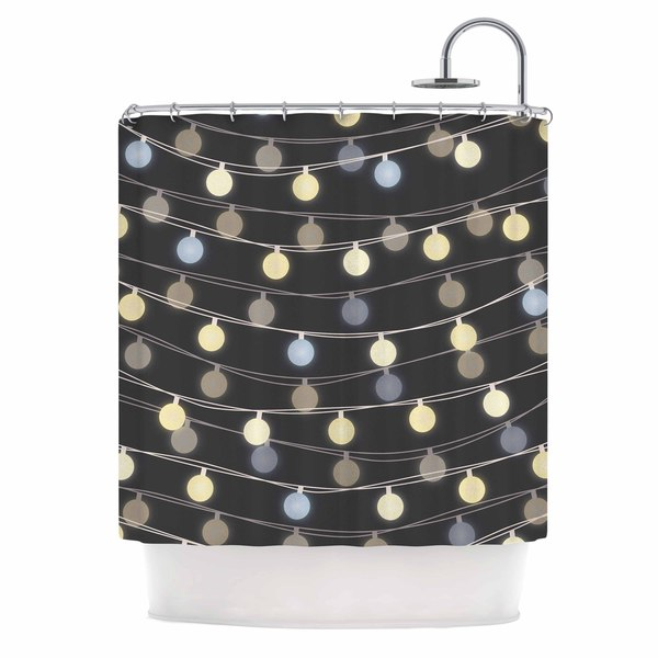 KESS InHouse Marta Olga Klara 'Fairy Lights' Shower Curtain (69x70)