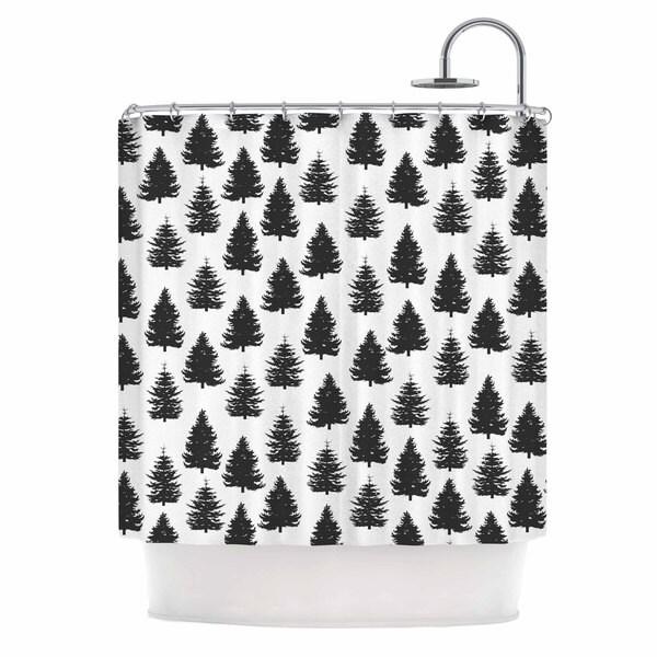 KESS InHouse Marta Olga Klara 'Pine Forest' Shower Curtain (69x70)