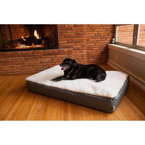 """Snoozer Super 7"""" Thick Lounge Sherpa Orthopedic Dog Bed"""