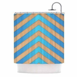 KESS InHouse Marta Olga Klara 'Turquoise Chevron' Shower Curtain (69x70)