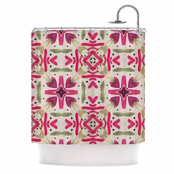 KESS InHouse Laura Nicholson 'Echinacea Garden' Shower Curtain (69x70)