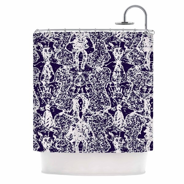 KESS InHouse Laura Nicholson 'Loony Lace' Shower Curtain (69x70)