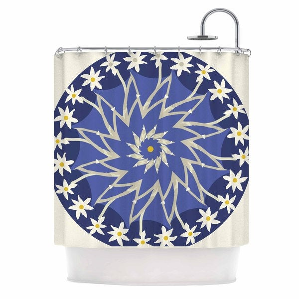 KESS InHouse Laura Nicholson 'Sawtooth Flower' Shower Curtain (69x70)