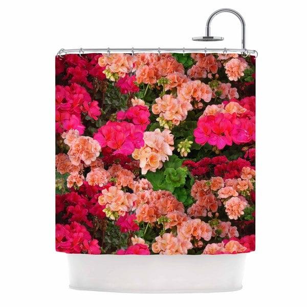 KESS InHouse Louise Machado 'Geranios' Shower Curtain (69x70)
