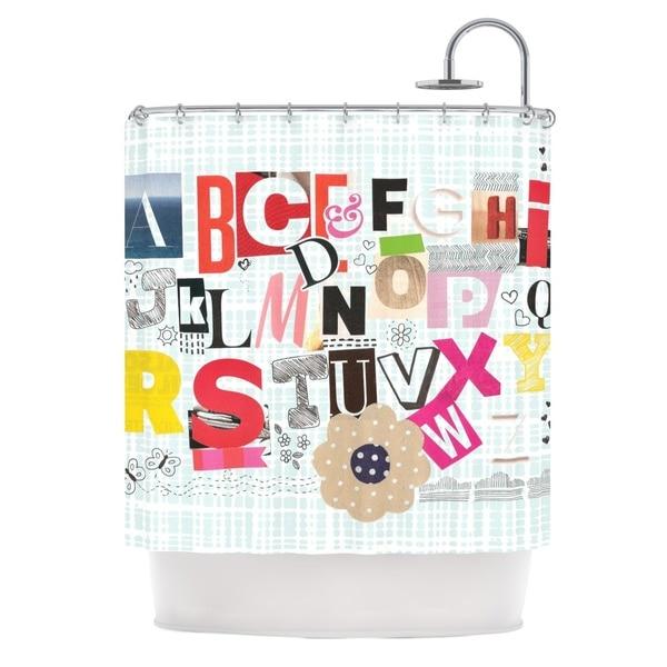 KESS InHouse Louise Machado 'ABC' Shower Curtain (69x70)