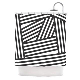 KESS InHouse Louise Machado 'Black Stripes' Shower Curtain (69x70)