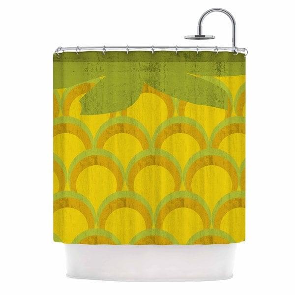 KESS InHouse Kathleen Kelly 'Pineapple' Shower Curtain (69x70)