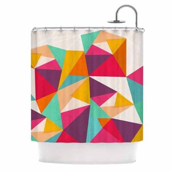 KESS InHouse Kathleen Kelly 'Diamond' Shower Curtain (69x70)