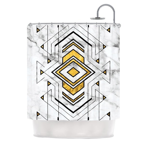 KESS InHouse KESS Original 'Geo Marble Graphic' Shower Curtain (69x70)