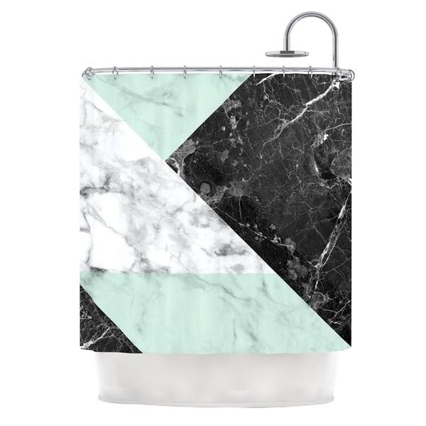 KESS InHouse KESS Original 'Geo Marble and Mint' Shower Curtain (69x70)
