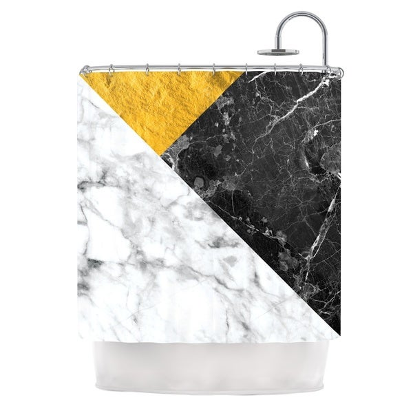 KESS InHouse KESS Original 'Geo Marble and Gold' Shower Curtain (69x70)