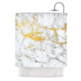 KESS InHouse KESS Original 'Gold Flake' Shower Curtain (69x70)