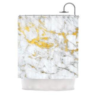 KESS InHouse KESS Original 'Gold Flake' Shower Curtain (69x70)
