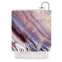 KESS InHouse KESS Original 'Sunrise Agate' Shower Curtain (69x70)