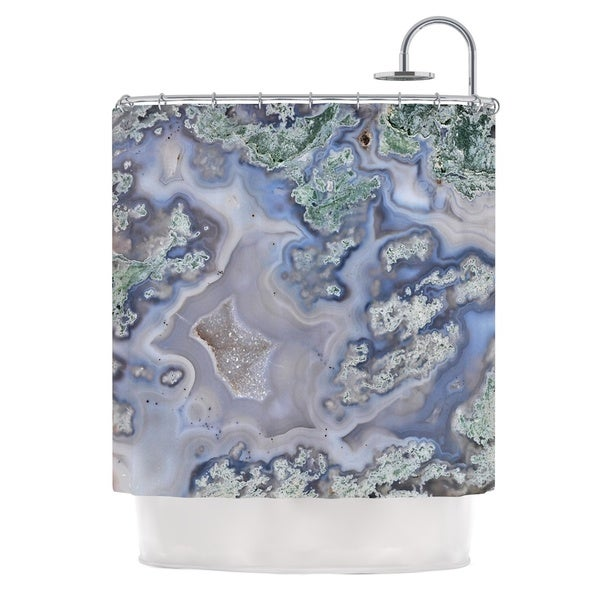 KESS InHouse KESS Original 'Pastel Geode' Shower Curtain (69x70)