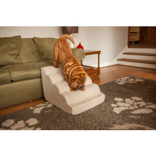Snoozer Scalloped Luxury Microsuede Dog Stairs