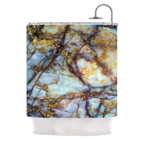 KESS InHouse Original X27Opalized Marblex27 Shower Curtain