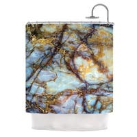 KESS InHouse KESS Original 'Opalized Marble' Shower Curtain (69x70)