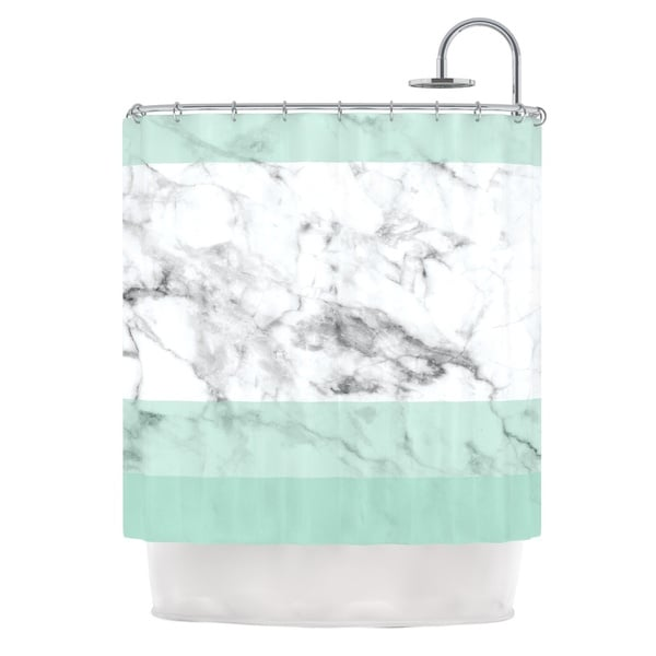 KESS InHouse KESS Original 'Mint Marble Fade' Shower Curtain (69x70)