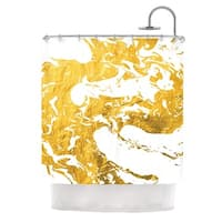 KESS InHouse KESS Original 'Gold Ink on Water' Shower Curtain (69x70)