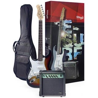 Stagg ESURF 250LHSBUS Surfstar Sunburst Left-handed Electric Guitar and Amplifier Package https://ak1.ostkcdn.com/images/products/12098107/P18961366.jpg?impolicy=medium