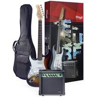 Stagg ESURF 250LHSBUS Surfstar Sunburst Left-handed Electric Guitar and Amplifier Package