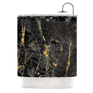 KESS InHouse KESS Original 'Gold Fleck Black Marble' Shower Curtain (69x70)