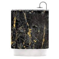 KESS InHouse KESS Original 'Gold Fleck Black Marble' Shower Curtain (69x70)