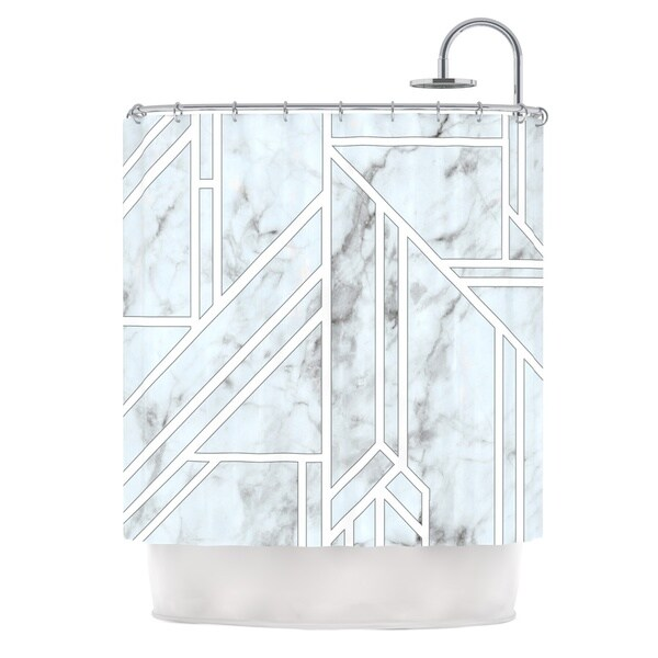 KESS InHouse KESS Original 'Marble Mosaic' Shower Curtain (69x70)