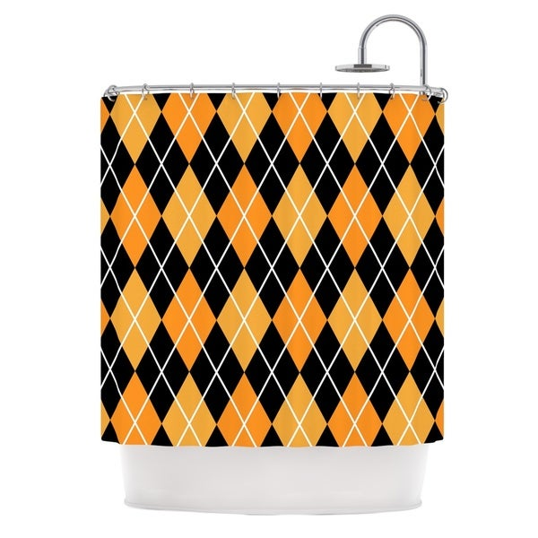 KESS InHouse KESS Original 'Argyle - Night' Shower Curtain (69x70)