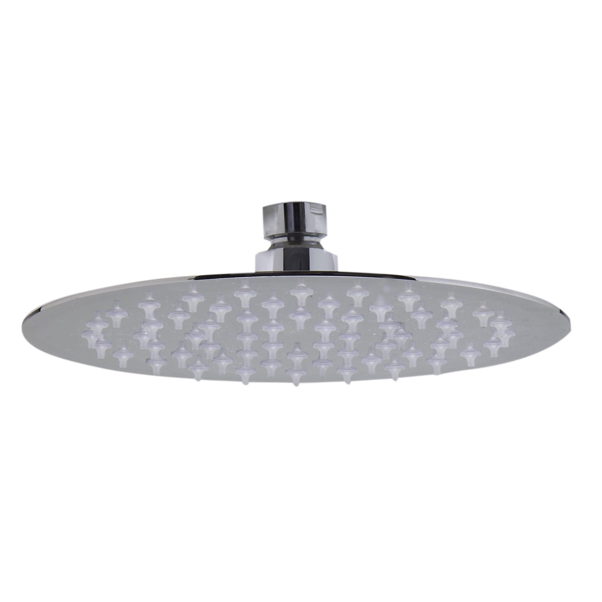 12inch Modern Shower Head Chrome Ultra Thin Top Ceiling Silver Overhead Rainfall