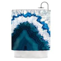 KESS InHouse KESS Original 'Blue Geode' Shower Curtain (69x70)