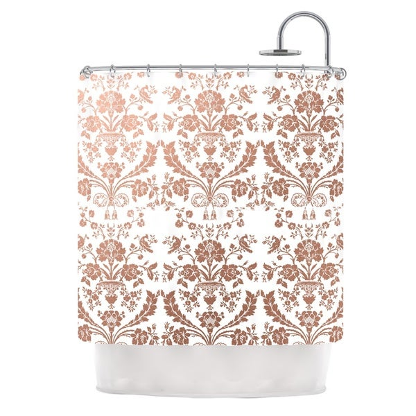 KESS InHouse KESS Original 'Baroque Rose Gold' Shower Curtain (69x70)