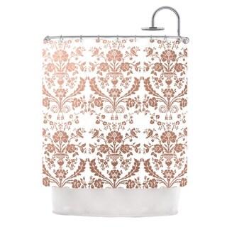 KESS InHouse KESS Original 'Baroque Rose Gold' Shower Curtain (69x70)