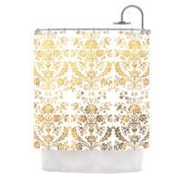 KESS InHouse KESS Original 'Baroque Gold' Shower Curtain (69x70)